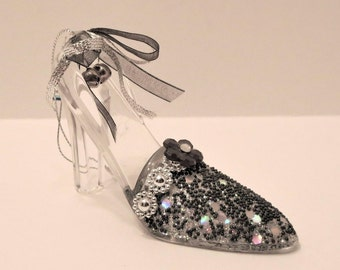 Cinderella's Glass Slipper Acrylic And Bead Ornament
