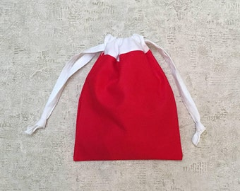 smallbags Santa red and white - lined cotton bag - zero waste