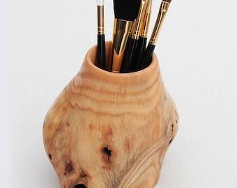 Makeup Brush Holder, Makeup Storage, Makeup Brush, Makeup Organizer, Makeup Brushes Cup, Desktop Organizer, Handmade, Wooden Vase, Rustic