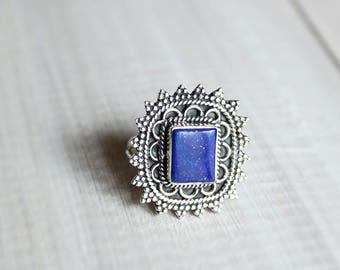 Lapis lazuli ring & Silver 925-7.25 US / 55 FR