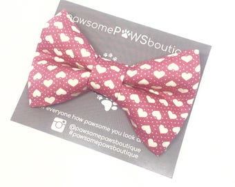The Heartbreaker | Dog Bow | Dog Bow Tie | Bow Tie For Dogs | Girls Bow Tie | Dog Collar Bow