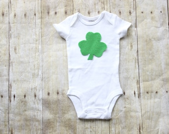 St Patrick's day baby outfit Shamrock baby Boy onesie