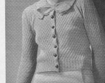 1934 Ladies Cardigan