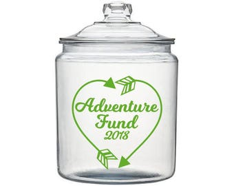 Vacation Fund Decal, Adventure Fund Decal, Travel Fund Decal, Money Jar Decal, Adventure Decals, Travel Decal, Piggy Bank Decal, Jar Decals