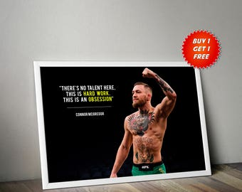 Connor Mcgregor, Poster,Print, Gym,UFC, Irish,Notorious,Fighter,Workout, Motivation,Birthday,Success,Champion, Gift,Gift For Him,Gym Junkie,