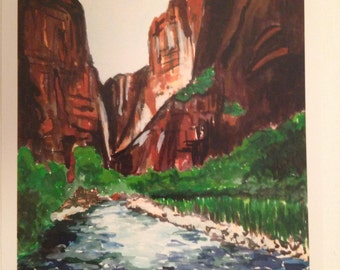 The Narrows - Zion National Park print