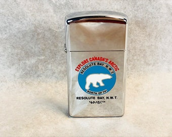 1978 Zippo Canada Advertising Lighter Resolute Bay NWT
