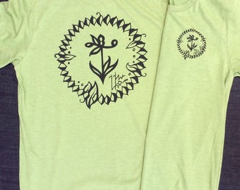 UNS Anchor Leaf design crew neck tee