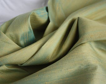 Thai silk, soft aqua/green shot fabric2.5m x 1m