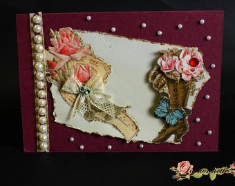 3D postcard, hand made, for a special event