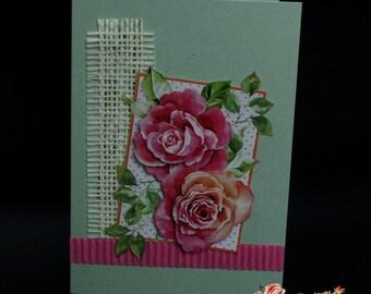 Carte postale 3D, faite main, Pour un événement spécial