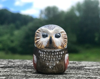 Owl OOAK Polymer Clay Totem