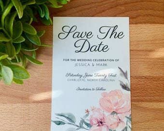 PRINTED Floral Save The Date, Spring Save The Date, Summer Save The Date, Save Our Date Invitation