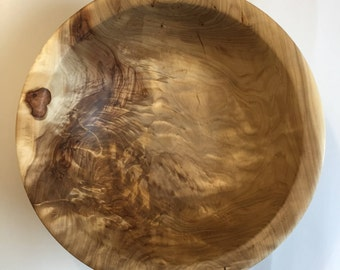 Curly Willow Wood Salad Bowl