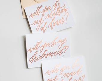 Bridesmaid Proposal Cards (Set of 4 or More)