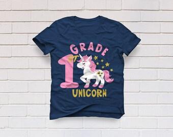 1st grade svg, First Grade svg, Unicorn svg, Unicorn shirt svg, Hello 1st Grade svg, Cricut, Cameo, Cut file, Clipart, Svg, DXF, Png, Eps