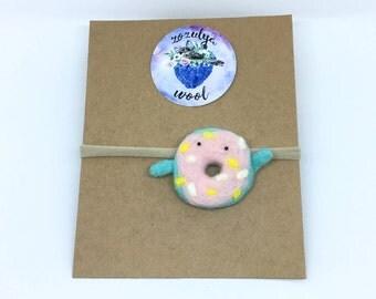 Funny Multicolored Donut Headband,Baby Headband,Gift,Felted Headband,Hand Felted Headband,Wool Headband,Wool Accessories,Donut,Wool,Headband
