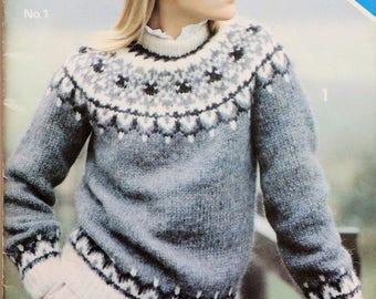 Alafoss lopi No. 1 knitting pattern booklet