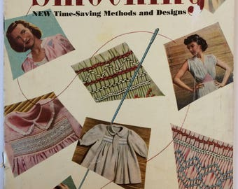 Vintage Smocking booklet - Time saving methods and designs by Irene A. Noll