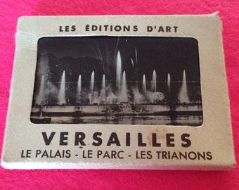 Vintage souvenir booklet Versailles photographs - souvenir album from Versailles, Paris, France real photos - Black and White