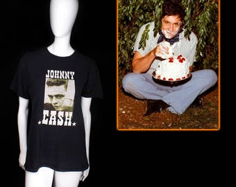 1990's Johnny Cash T-Shirt by Zion (size small)
