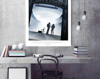 """Solar System Travel Poster - Vintage Design - Nasa JPL-""""Queen of the Astéroïd Belt Cerès"""""""
