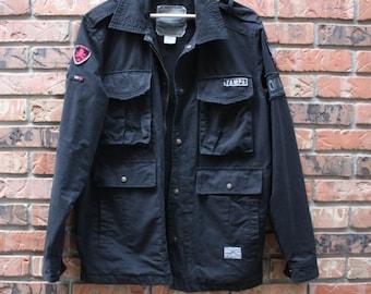 Vintage Hard Rock Cafe Rock N' Roll Tampa Black Zip Jacket Men's Sz. Large