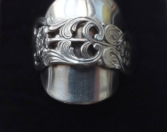 Solid Silver Spoon Ring