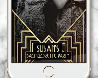 Gatsby Snapchat Filter * Gatsby bachelorette Gatsby Geofilter Gold Snapchat Bachelorette Geofilter Gatsby Snap chat Gatsby Art Deco Snapchat