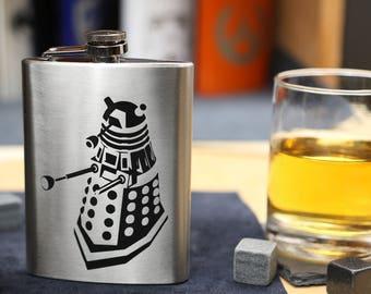 Dalek - Stainless Steel Hip Flask