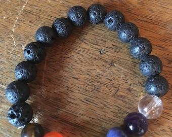 Lava Chakra bead bracelet
