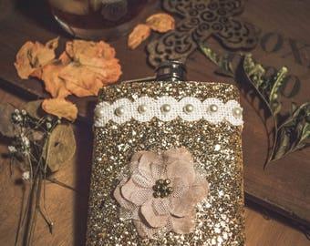 Gold Sparkle Flask