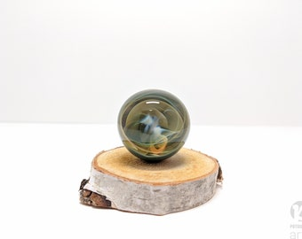 Handmade Northern Lights Marble,Glass Marble, Glass Orb, Boro Marble, Large Marble, Collectible Marble, Handmade Glass Marble, Vortex Marble