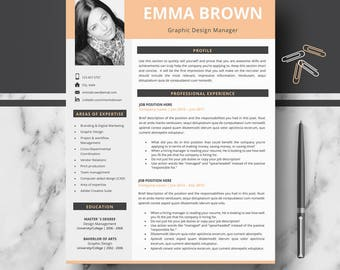 CV, resume, curriculum vitae template; Professional & Modern CV / Résumé Templates; Instant download CV + cover Letter + References + tips