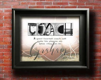 Gifts For Football Coach Gifts Football Gift Ideas FOOTBALL Mom Gift Football team Football Party Ideas Football Coaches Thank You PRINTABLE