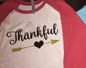 Thankful Baseball tee