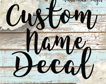 Custom Word Decal Etsy - Sticker custom vinyl decals for carcustom vinyl decals and stickers by stickythingz on etsy