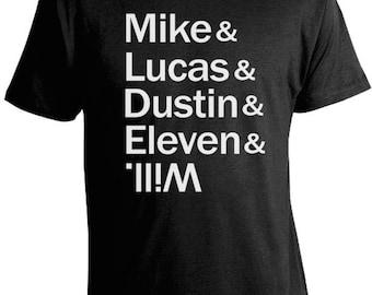 Stranger Things T-Shirt - Mike, Lucas, Dustin, Eleven & Will T-Shirt