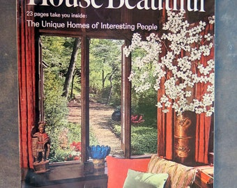 House Beautiful April 1963 Vol 105 No 4 Magazine Unique Homes of Interesting People