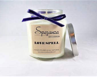 Scented Soy Candles   Natural Soy Candle   Love Spell   Soy Candle Gift   Hand Poured Soy Candle   Aroma Candle   Organic Candles