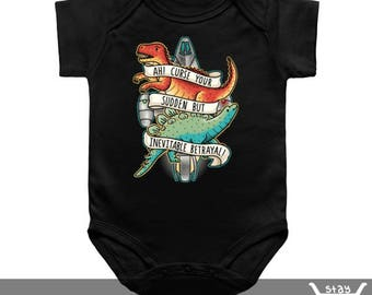 Baby Onesie / Toddler Tee / Kids Tee: Inevitable Betrayal / Firefly / Wash / Captain Mal / SciFi / Stay Shiny / Space / Serenity / Dinosaur