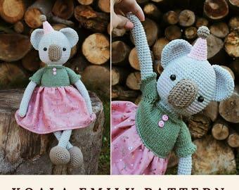 Crochet Pattern Koala Bear Amigurumi Crochet Pattern Plush Koala Crochet Animal Pattern