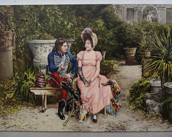 Gioacchino Pagliei . In the garden . copy. classics of the 19th century. Realism