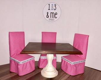 """The Cecilia Collection - Table & 4 Chairs for 18"""" Dolls"""