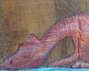 Dragon's Wood - an original acrylic painting on wood