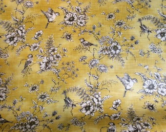 PVC Fabric - Finch Toile - Buttercup