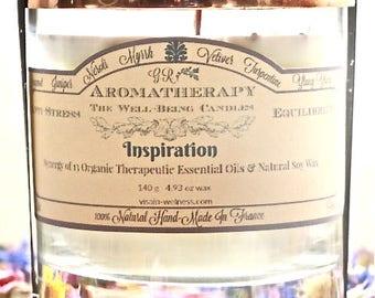 Inspiration - Bougie 100% naturelle a la cire de soja et 13 H.E.