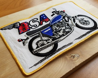 BSA 1970s Vintage Motorcycle Patch