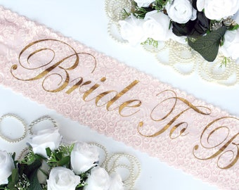 Bride To Be Sash Bridesmaid Sash Bachelorette Party, Custom Sash, Bachelorette sash, gold glitter, Bride, Wedding sash, Personalized, Sash