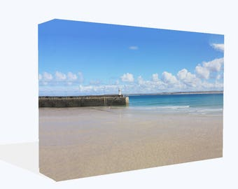 St Ives Cornwall  Harbour View  Canvas Print Wall Art Ready To Hang Or Poster Print
